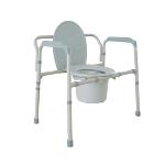 Drive Bariatric Folding All In One Commode-Steel, 650pounds, 11117N