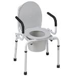 Mabis Heavy Drop Arm Commode, 1213