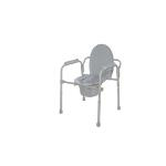 Drive K. D. Deluxe Steel Drop-Arm Elong Commode, 350pounds, 11148N4