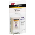 Neutrogena Pure and Free Baby Sunblock Stick SPF 60+, .47 oz