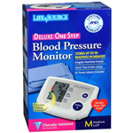 Life Source Blood Pressure Monitor Deluxe One Step Medium Cuff UA-767PAC