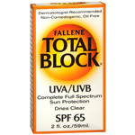 Fallene Total Block Sunblock, Clear SPF 65, 2 fl oz
