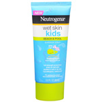 Neutrogena Kids Wet Skin Beach and Pool Sunblock Lotion, SPF 45+, 3 oz