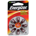 Energizer Batteries EZ Turn and Lock Hearing Aid Size 312, 8 pk