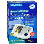 LifeSource One Step Auto Inflate Blood Pressure Monitor, Medium Cuff, UA767PV