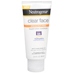 Neutrogena Clear Face Sunblock Lotion SPF 55, 3 oz