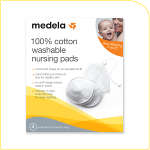 Medela 100% Cotton Washable Nursing Bra Pads, 4 ea