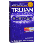 Trojan Condoms Pleasures Ecstasy Fire & Ice Condoms, 10 ea