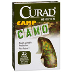 Curad Camouflage Green/Brown Adhesive Bandages, 25 ea