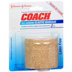 "Johnson & Johnson Coach Elastic Bandage Self Adhering 2"" X 2.2Yd"