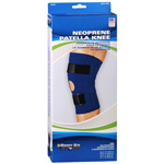 "Sportaid Knee Brace Open Patella Blue Neoprene Large 15""-17 "", 1 ea"
