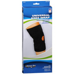Knee Wrap, Neoprene With Stays Black, Universal