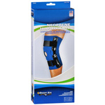 Sportaid Open Patella Hinged Knee Brace Neoprene, Blue, Large, 15-17 Inches