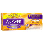 Answer Lab Strips Pregnancy Test, 5 ea