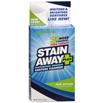 Stain Away Plus Denture Cleanser 4 Oz (40 Cleanings)
