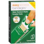 Easy Access Bandages Water Resistant Plastic Portable Packs, 1 x 3, 30 ea