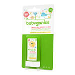 BabyGanics Cover Up Baby Sunscreen Stick SPF 50, Fragrance Free, 0.47