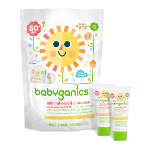 Babyganics Cover Up Baby Sunscreen Lotion TO GO SPF 50, 0.25 oz (Pack of 12)