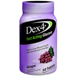 Dex 4 Glucose Tablets, Grape, Grape, 50 ea