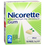 Nicorette Nicotine Gum 2mg, Mint, 110 ea