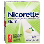 Nicorette Nicotine Gum 4mg, Mint, 110 ea