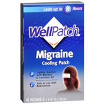WellPatch Migraine, Cooling Headache Pads, 4 ea