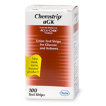 Chemstrip uGK Urine Test Strips for Glucose and Ketones, 100 ea