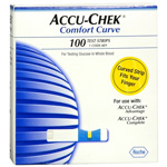 Accu-Chek Comfort Curve Test Strips for Testing Glucose in Whole Blood, 100 ea