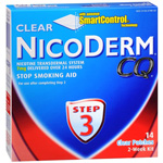 NicoDerm CQ Smoking Cessation Aid, Clear Patch, Step 3, 14 ea