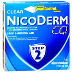NicoDerm CQ Smoking Cessation Aid, Clear Patch, Step 2, 14 ea