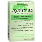 Aveeno Clear Complexion Cleansing Bar, 3 oz