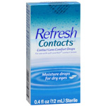 Refresh Contacts, Contact Lens Comfort Drops, .4 fl oz