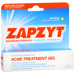 ZAPZYT Maximum Strength 10% Benzoyl Peroxide Acne Treatment Gel, 1 oz