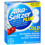 Alka-Seltzer Plus Cold Medicine, Cherry Burst, Effervescent Tablets, 20 ea