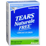 Tears Naturale Lubricant Eye Drops, Single Use Vials, 36 ea