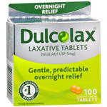 Dulcolax Overnight Relief Laxative Tablets, 100 ea