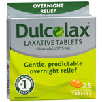 Dulcolax Overnight Relief Laxative Tablets, 25 ea