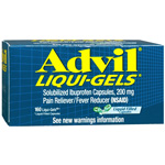 Advil Solubilized Ibuprofen Capsules, 200mg, Liquid Filled Capsules, 160 ea