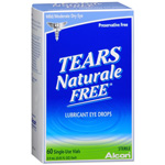 Tears Naturale Free Lubricant Eye Drops, Single Use Vials, 60 ea