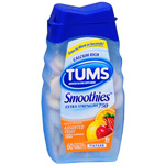 Tums Smooth Dissolve, Antacid/Calcium Supplement, Assorted Fruit, 60 ea
