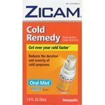 Zicam Cold Remedy Homeopathic Oral Mist, Mint, 1 fl oz