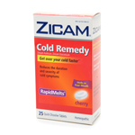 Zicam Cold Remedy Homeopathic Rapid Melts, Cherry, 25 ea