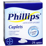Phillips Cramp-free Laxative, Caplets, 24 ea