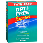 Opti-Free Express, Lasting Comfort No Rub, Multi-Purpose Disinfecting Solution, 10 oz (Pack of 2)
