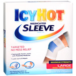 Icy Hot Maximum Strength, Medicated Sleeve, Ankles, Elbows & Knees, Large, 3 ea