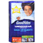 GoodNites Boys Underpants, L/XL (60-125 lbs), 12 ea (Pack of 4)