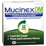 MucinexDM Expectorant, Cough Suppressant, Extended-Release 600 mg Tablets, 40 ea