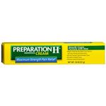 Preparation H Hemorrhoidal Cream, Maximum Strength Pain Relief, 1.8 oz