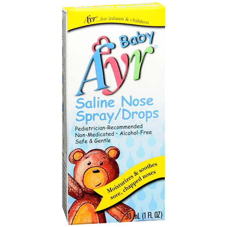 Ayr Baby's Saline Nose Spray, Drops, 1 fl oz