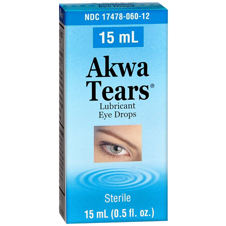 Akwa Tears Lubricant Eye Drops Hypotonic, .5 fl oz